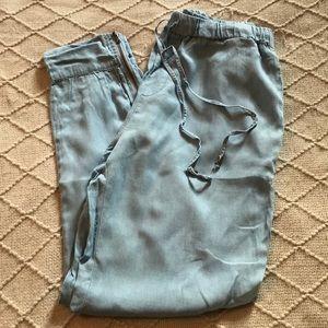 Forever21 Light Blue Parachute Pants